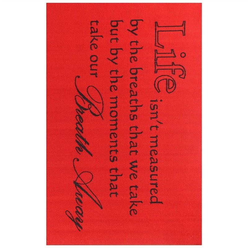 Poetry Breath Away Egyptian Made 100x150cm Nylon Rug - Red
