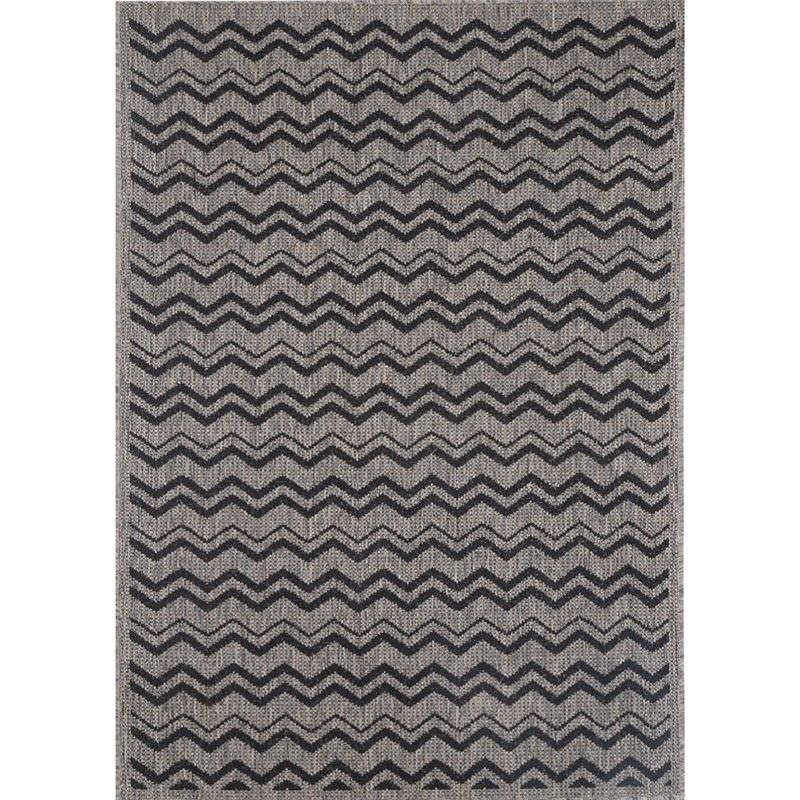 Sisalo Nastka Egyptian Made Rug, 80x150cm, Black