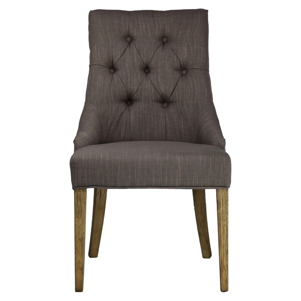 Brigitte Tufted Fabric Dining Chair