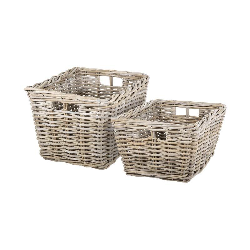 Palmer 2 Piece Rattan Basket Set