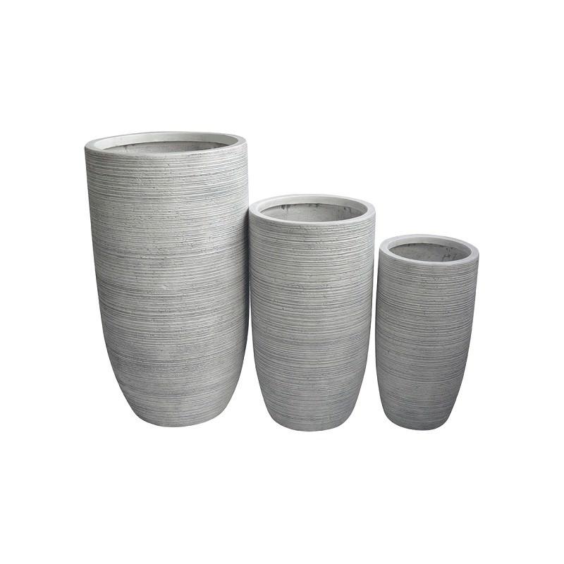 Palma 3 Piece Cement Fibre Tall Planter Set