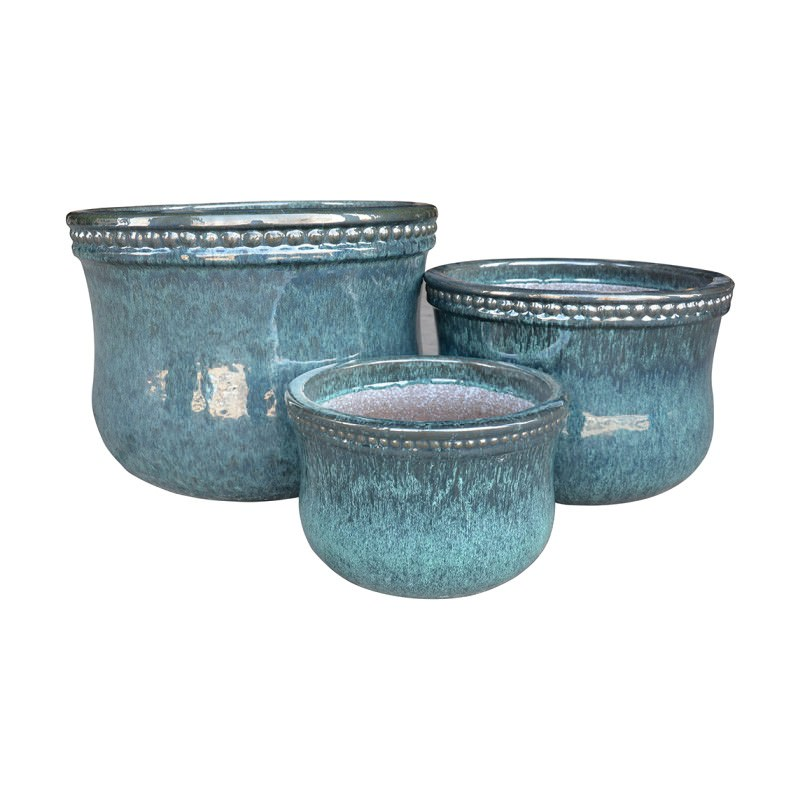 Patar 3 Piece Planter Set, Turquoise