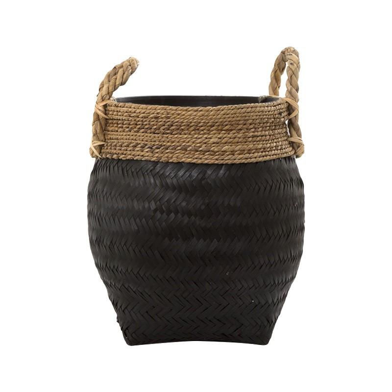 Rhydian Rattan Basket, Black