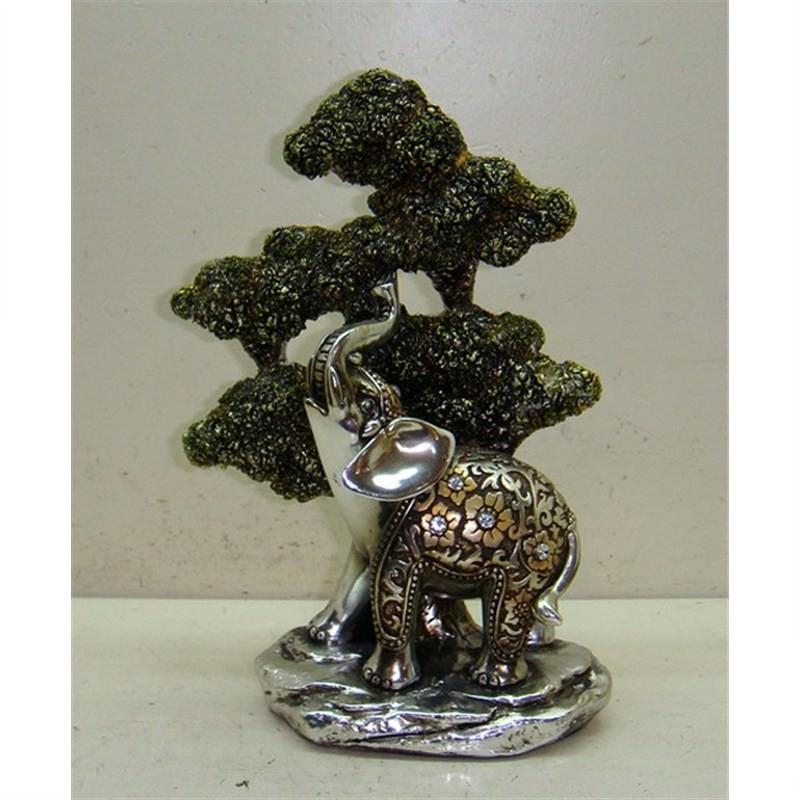 Polyresin elephant 12x5x17.5cm