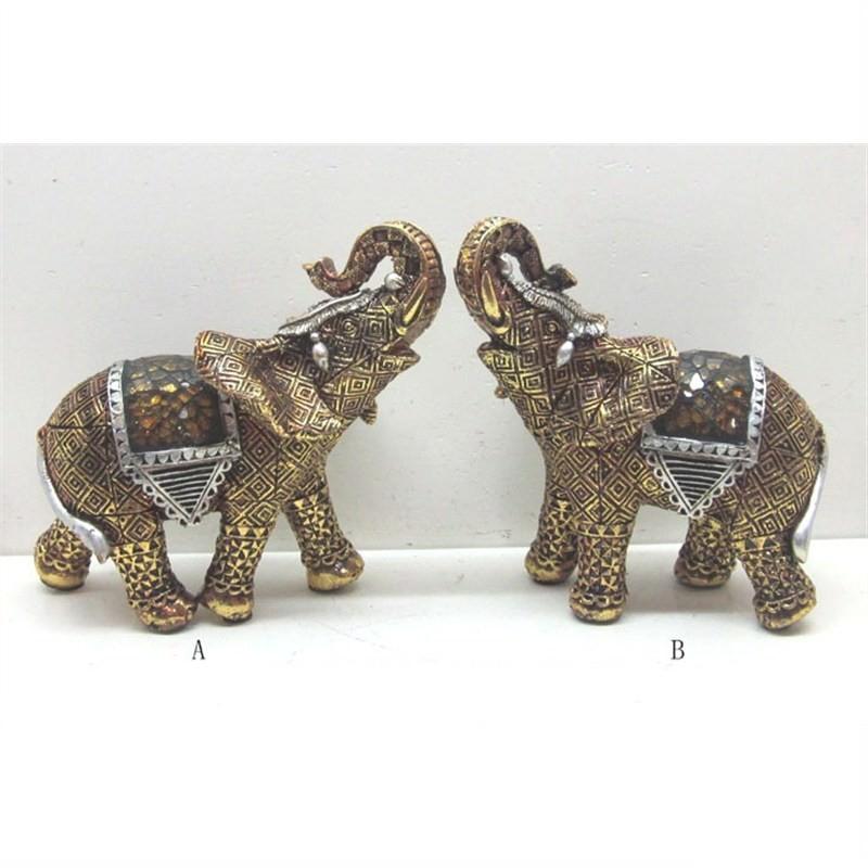 Elephant Decoration (Set of 2) 14x8.5x13.5cm
