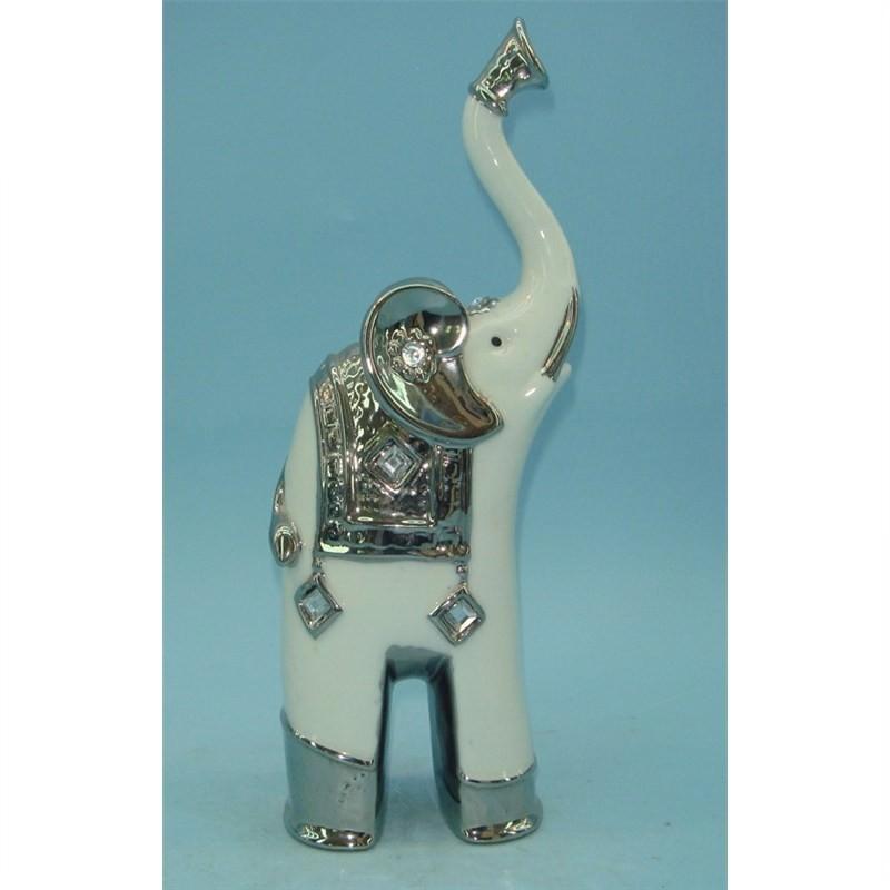 Porcelain Elephant 7.5x7.5x20cm