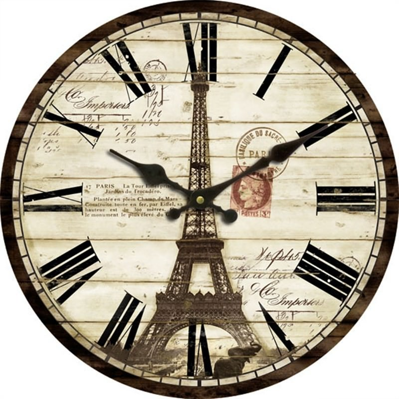 Effiel tower wall clock 60cm