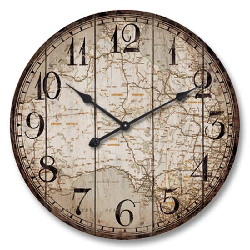 Australia Map Wall Clock 60cm