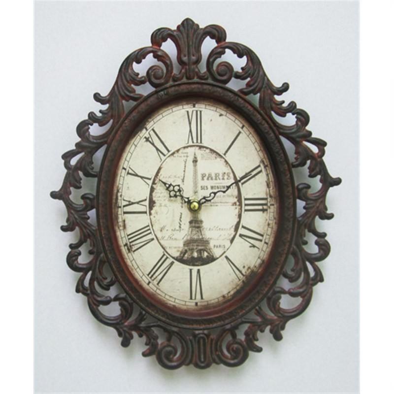 Effiel tower clock 22x28cm
