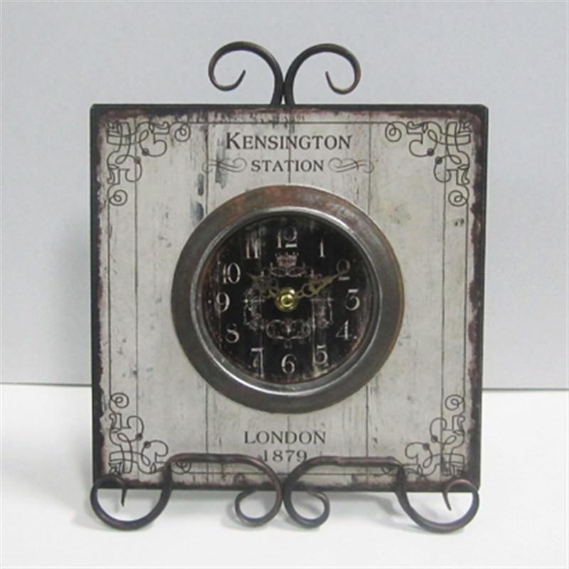 Metal Kensington clock 22x28cm