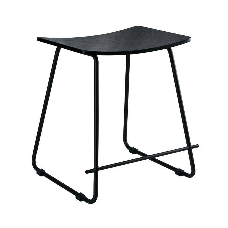 Porter Commercial Grade Black Frame Table Stool, Black