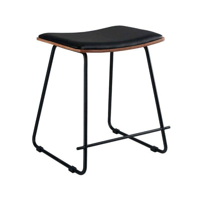 Nordberg Commercial Grade Steel Table Stool with PU Seat, Black