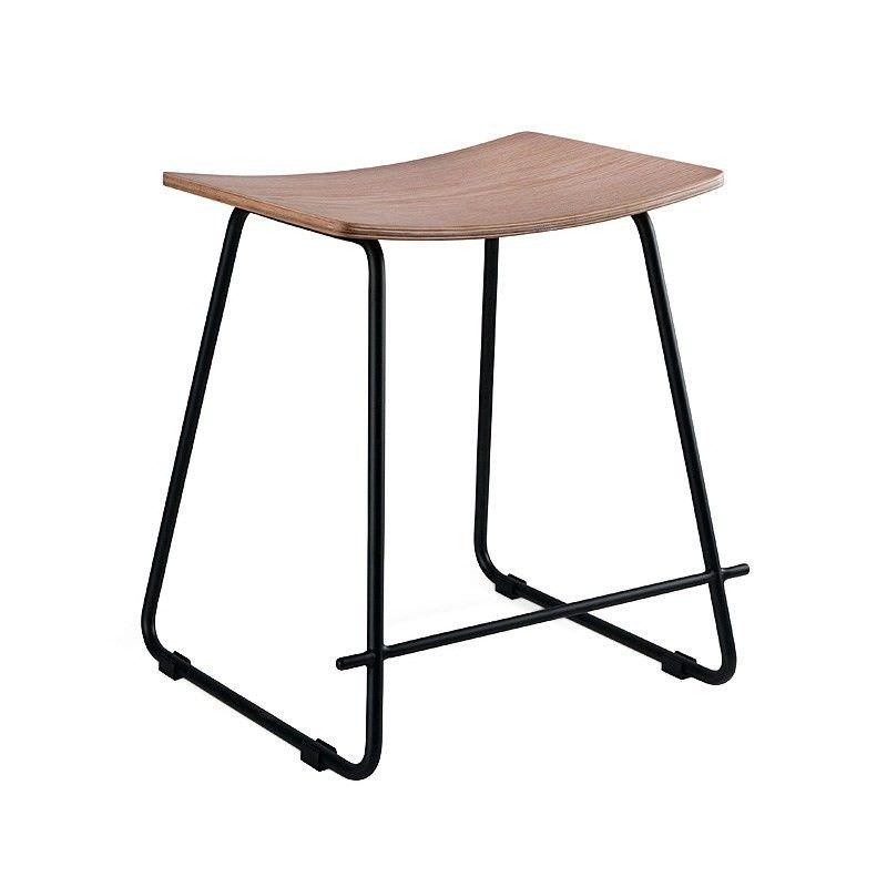 Porter Commercial Grade Black Frame Table Stool, Natural