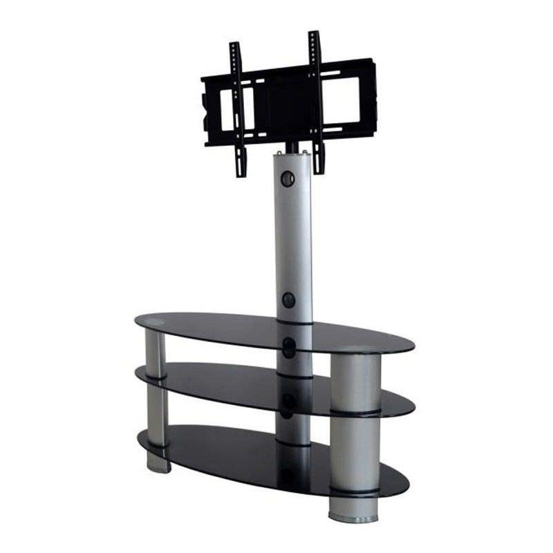Digilex POW-RA041 Aluminium and Glass TV Stand - 125cm