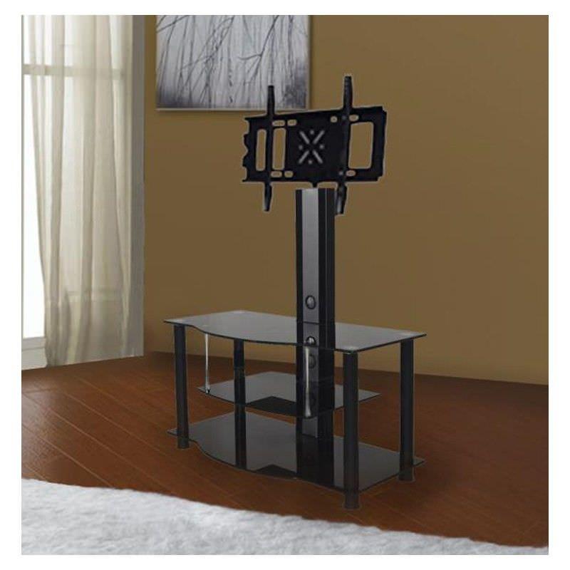 Digilex POW-RA045 Aluminium and Glass TV Stand - 125cm
