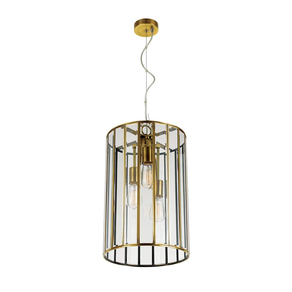 Pratt Metal & Glass Pendant Light, Large