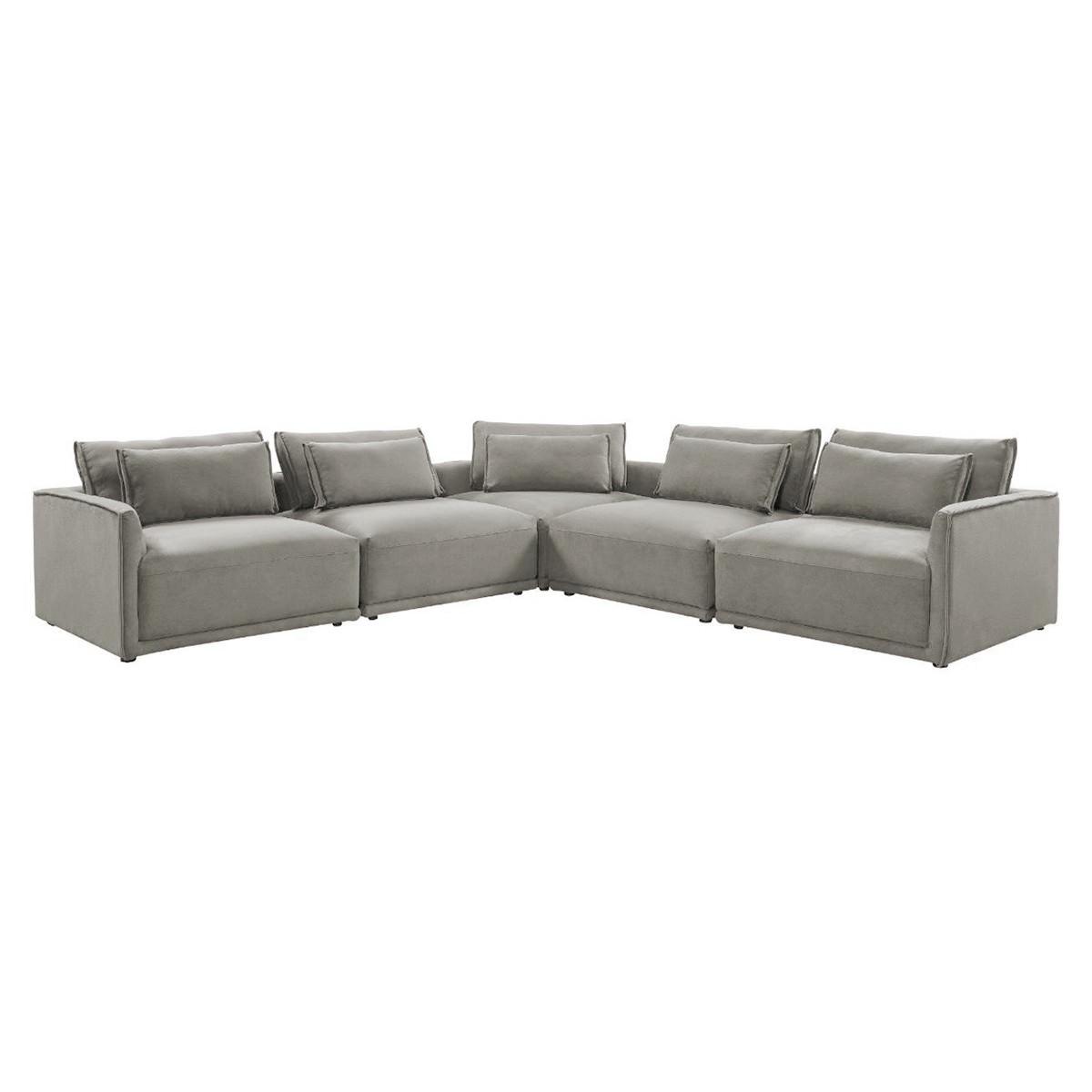 Prince Fabric Modular Corner Sofa, Elephant Grey