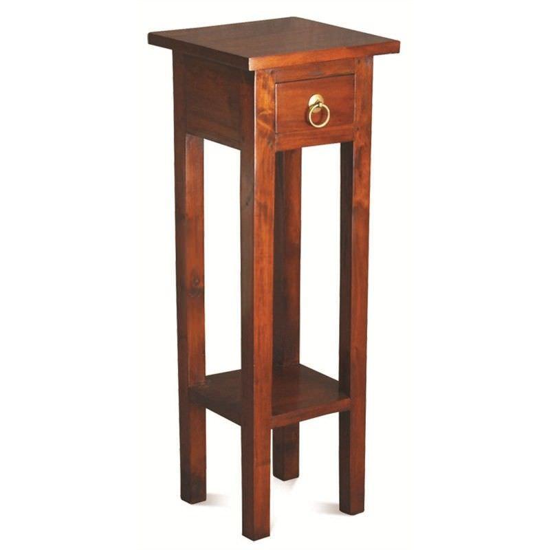 Straight Solid Mahogany Timber Plant Stand - Mahogany
