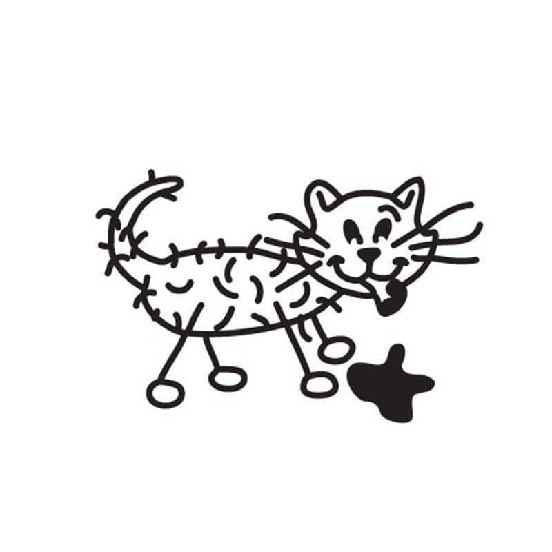 Sick Cat Funny Family Car Sticker