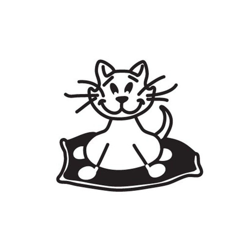 Fat Cat Funny Family Car Sticker