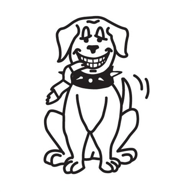 Big Naughty Dog Funny Family Car Sticker
