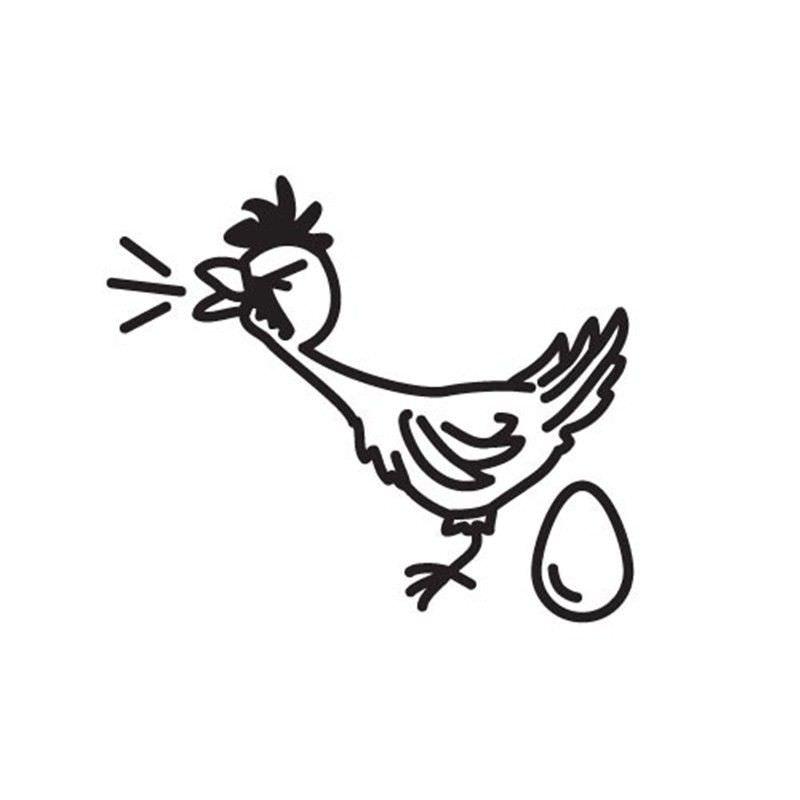 Big Egg Chicken Funny Family Car Sticker