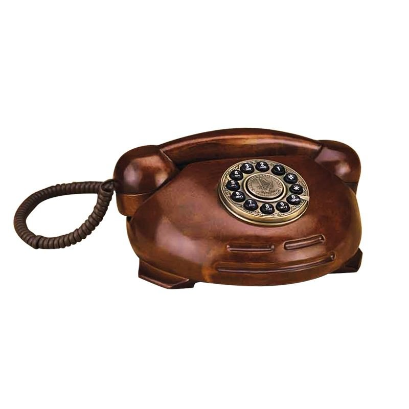 Hand Made Solid Timber Craft Telephone Set