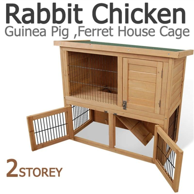 Double Storey Rabbit Hutch