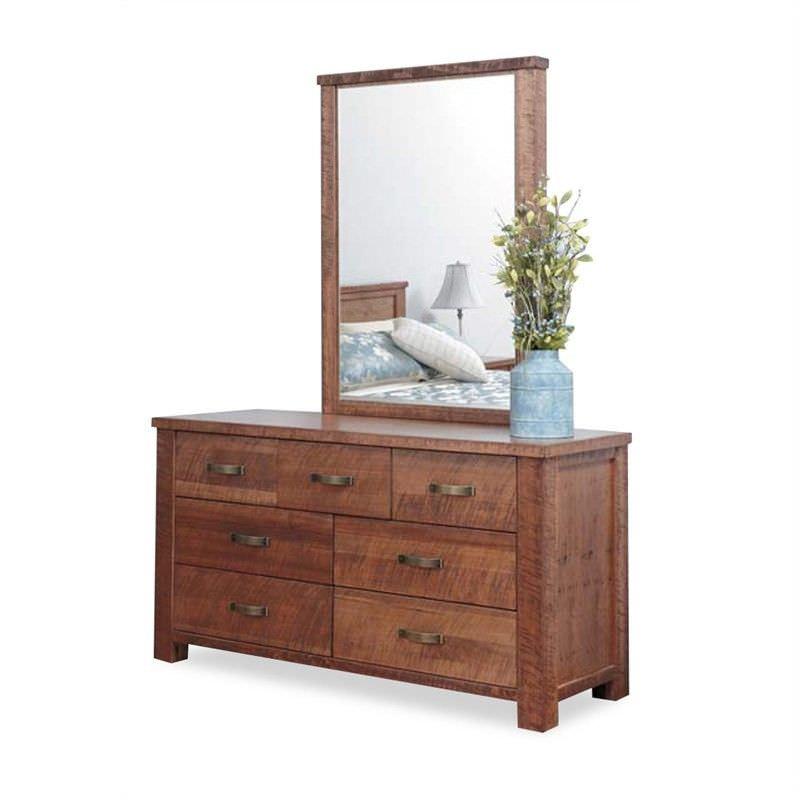 Pioneer Oak Dresser with Mirror