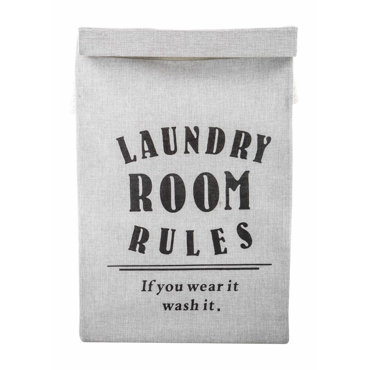 Laundry Room Rules Fabric Laundry Hamper