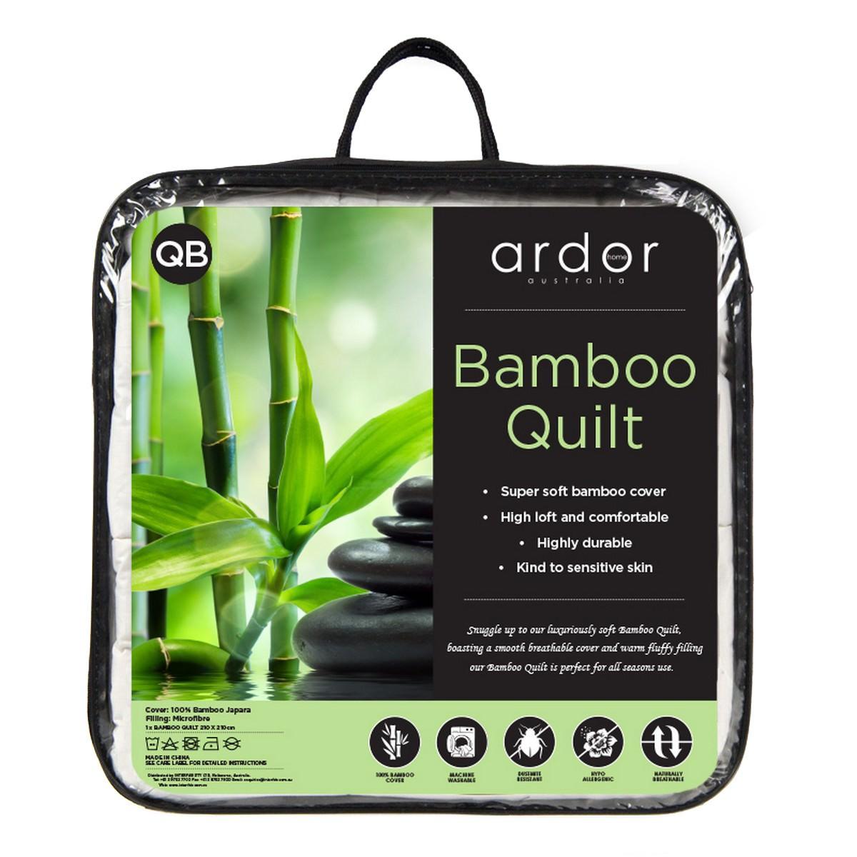 Ardor Bamboo Quilt, Super King