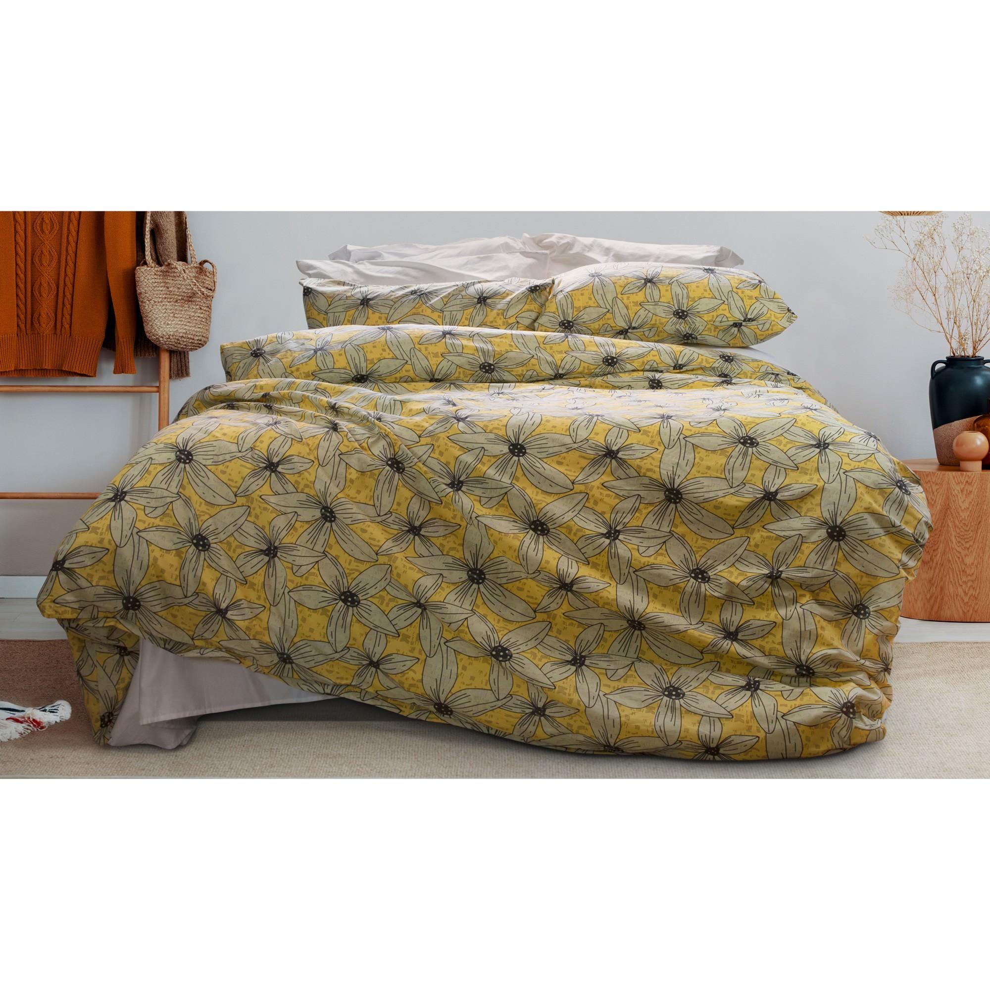 Lumiosa 3 Piece Cotton Quilt Cover Set, Double