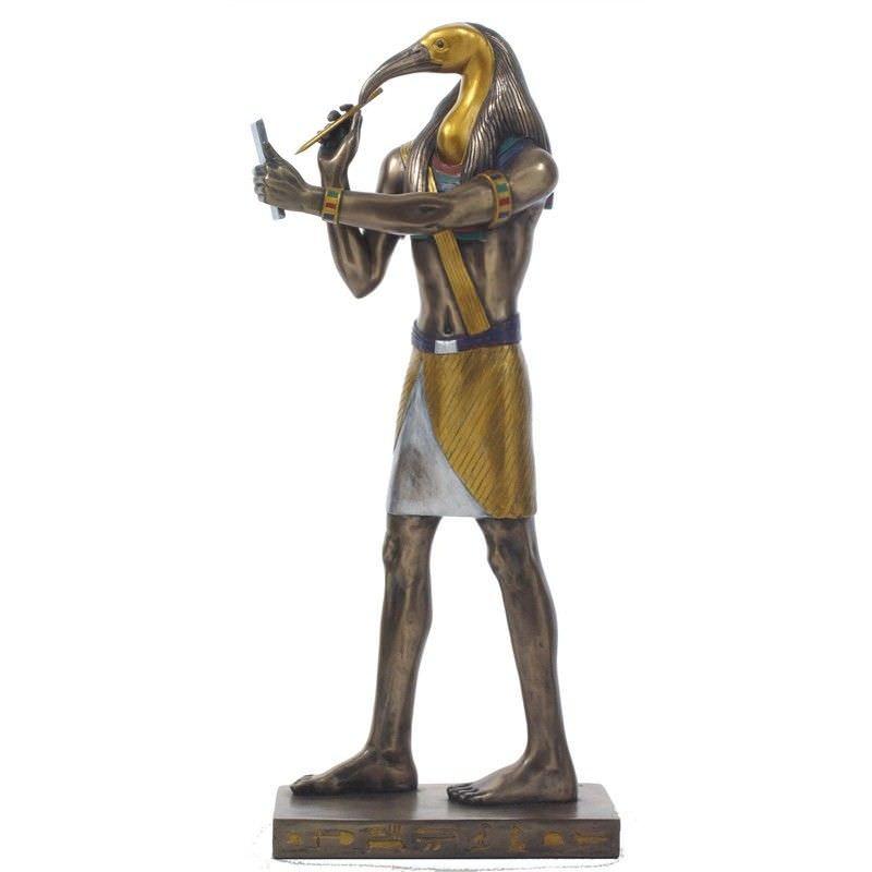 Cast Bronze Egyptian Mythology Figurine, Thoth
