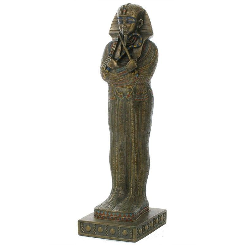 Cast Bronze Sarcophagus of King Tutankhamun Figurine