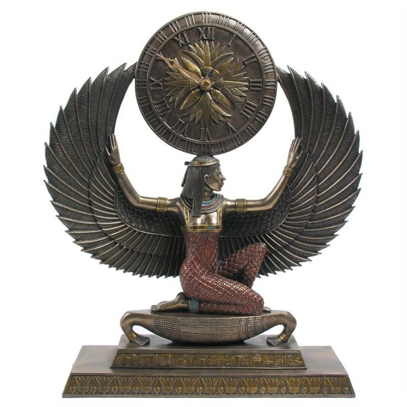 Cast Bronze Isis Table Clock