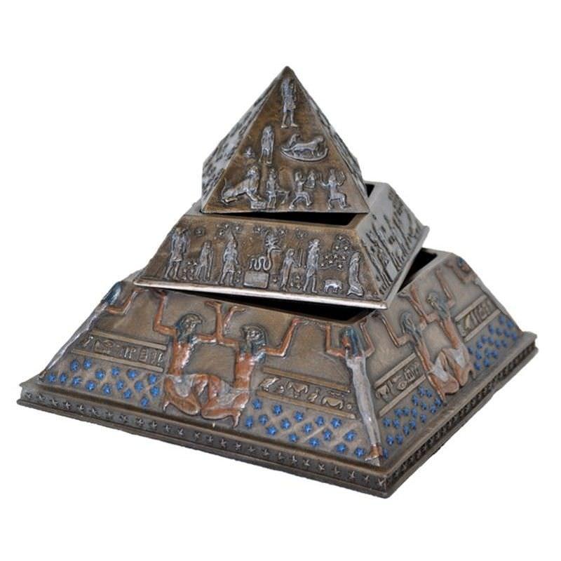 Veronese Cold Cast Bronze Coated 3 Layer Pyramid Trinket Box
