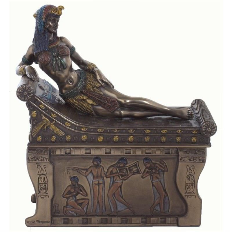 Cast Bronze Cleopatra Trinket Box
