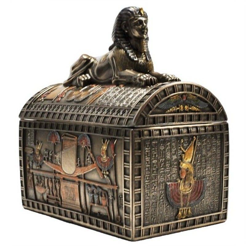 Cast Bronze Sphinx Trinket Box