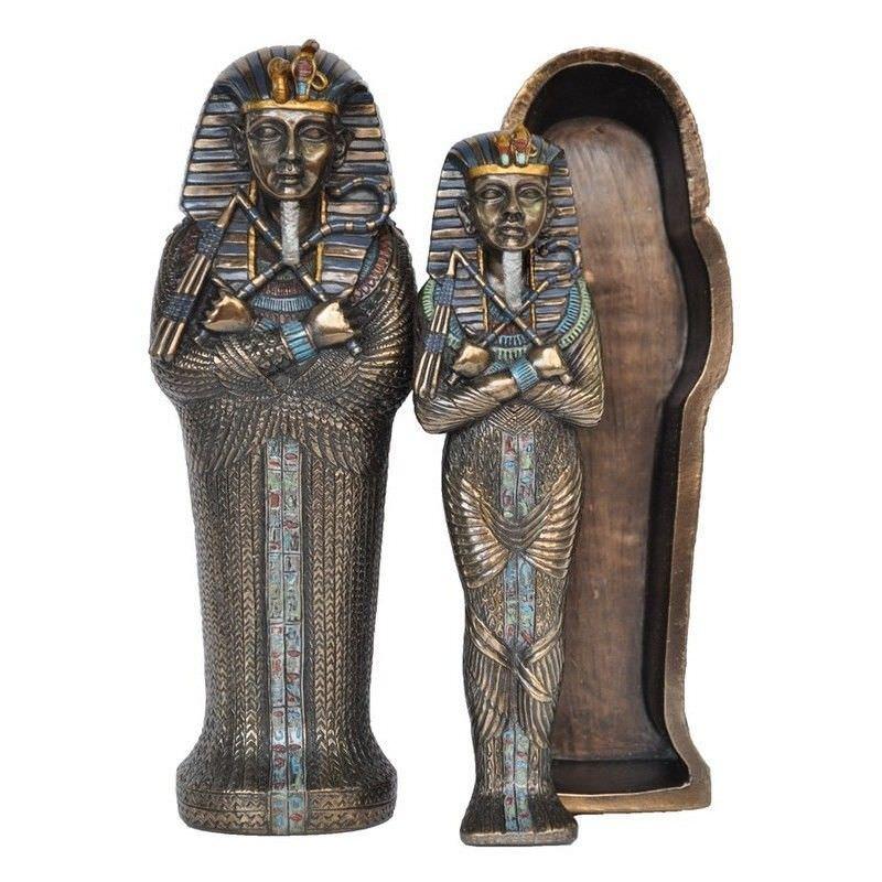 Cast Bronze 3 Piece Sarcophagus Set