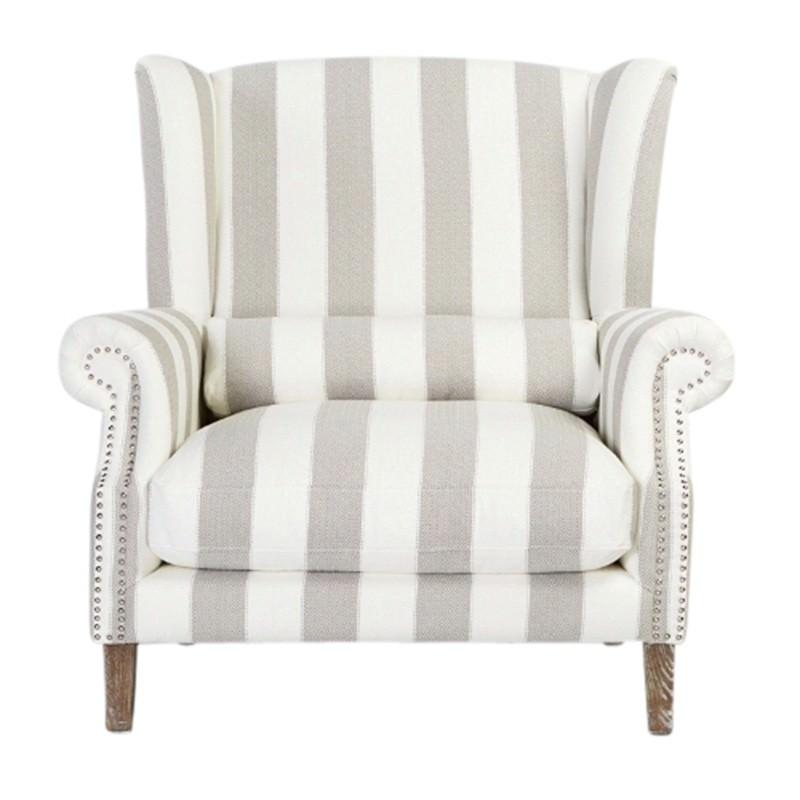 Celeste II Fabric Love Chair, Striped Grey