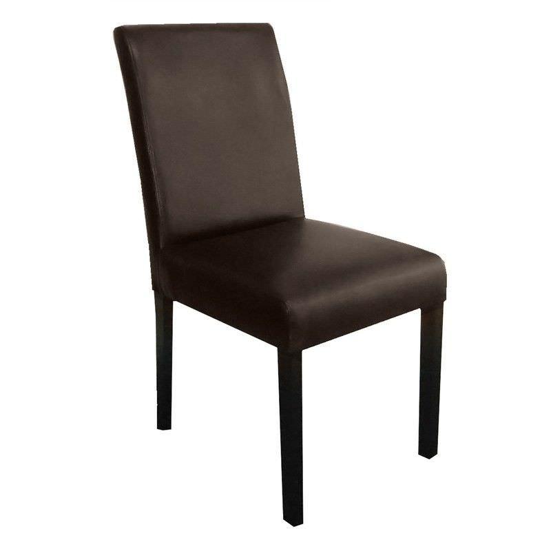 Rayden PU Upholstered Dining Chair - Dark Brown/Wenge