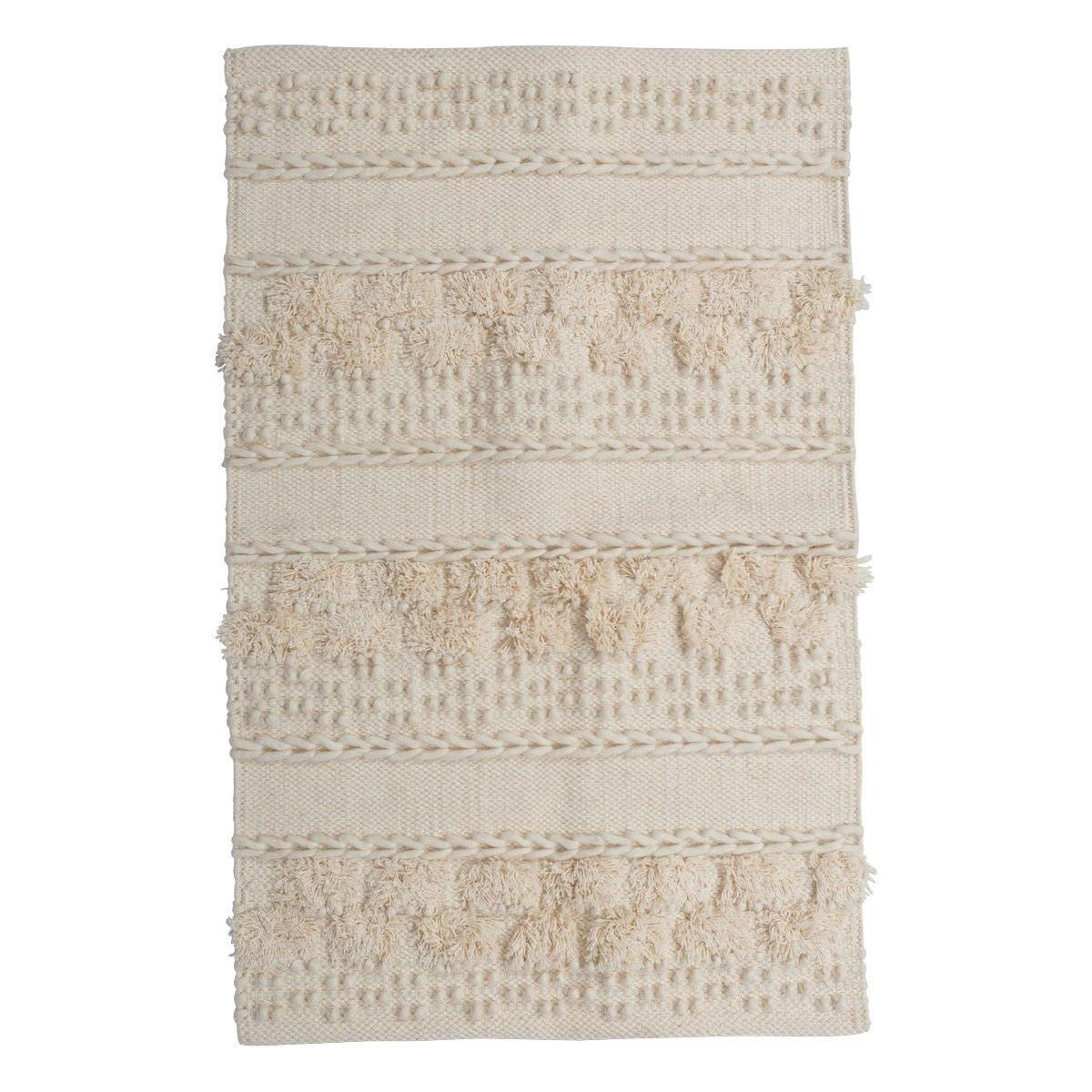 Hayman Cotton & Wool Rug, 90x60cm, Light Beige