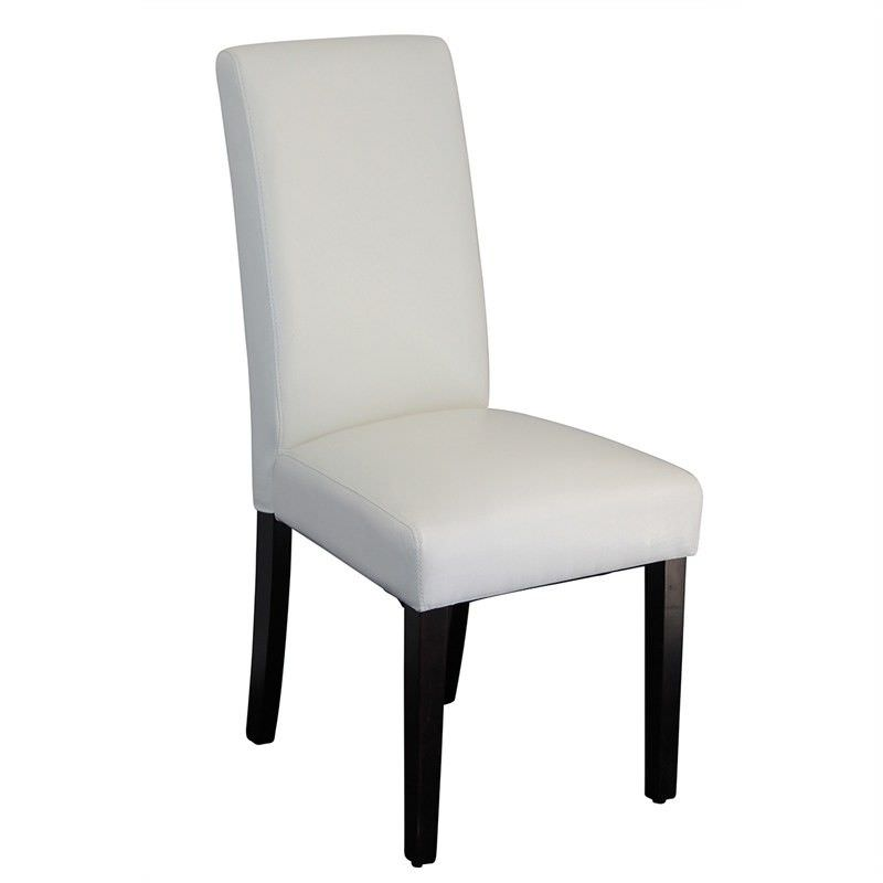 Rayden PU Upholstered Dining Chair - White/Wenge