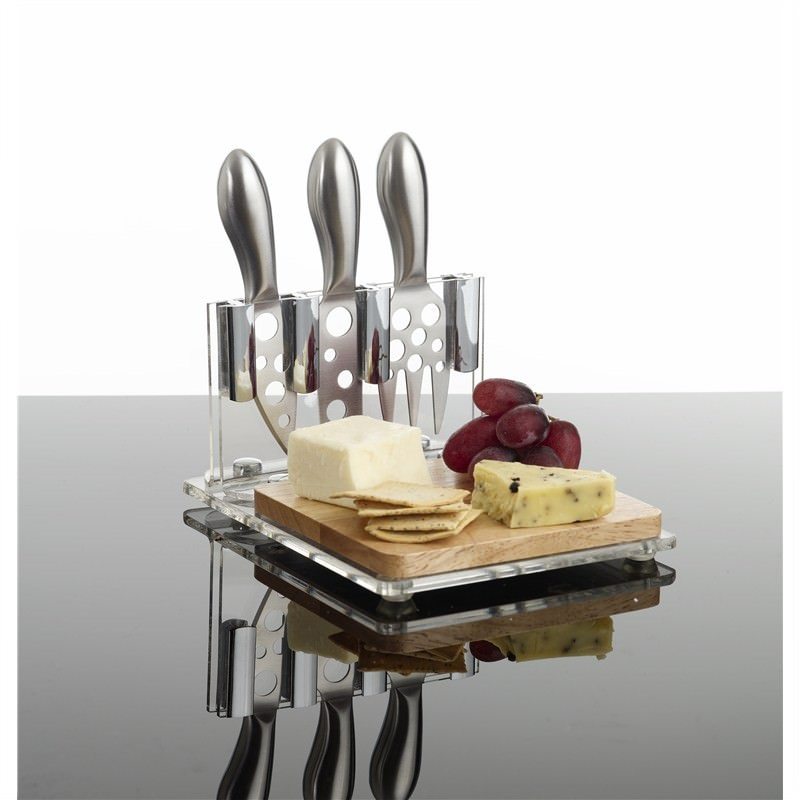 Cheese Board and Knife Set - 4pc
