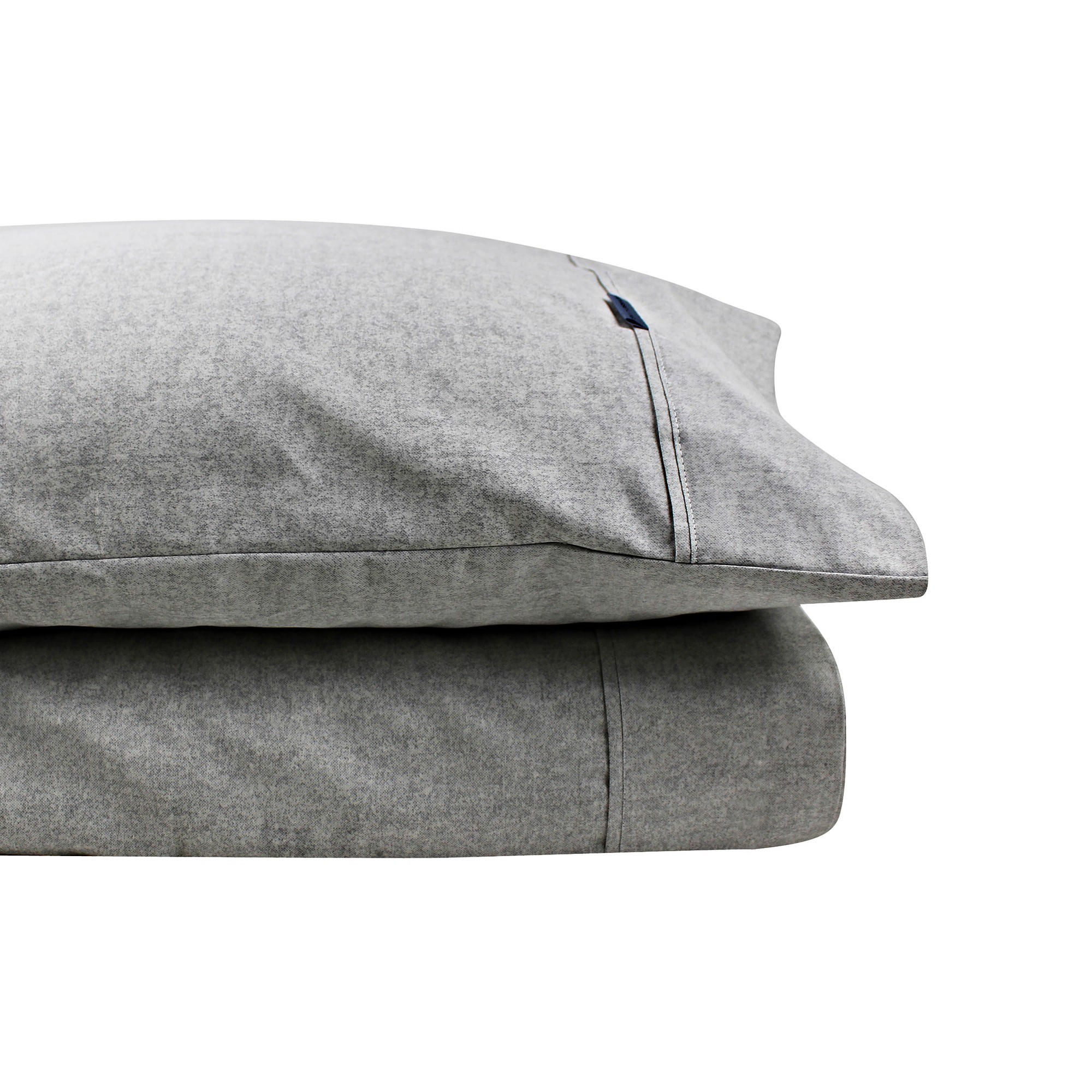 Odyssey Living Marle Thermal Flannel Sheet Set, Queen, Pale Grey