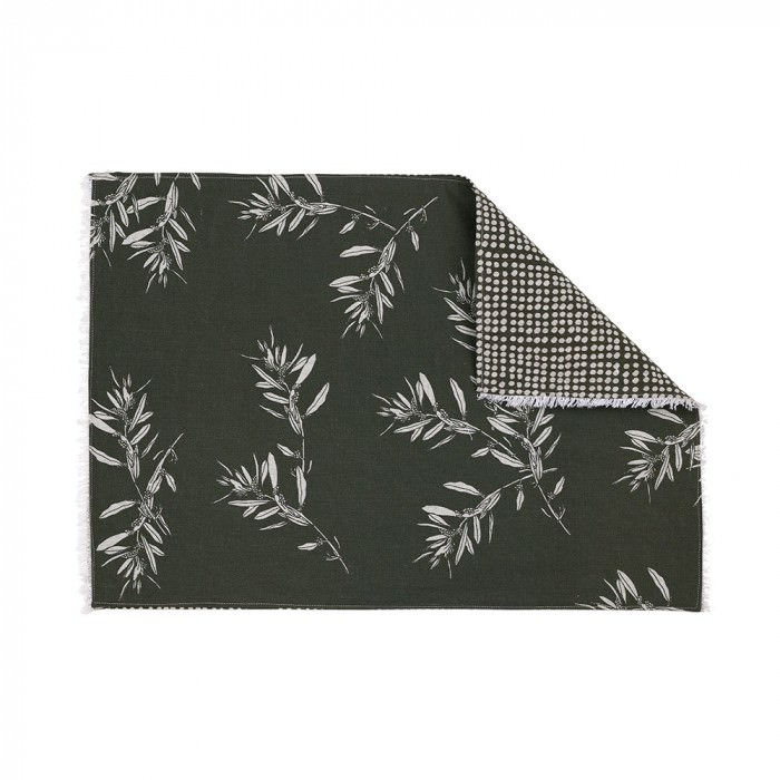 Olive Grove & Cotswold 4 Piece Fabric Placemat Set, Olive