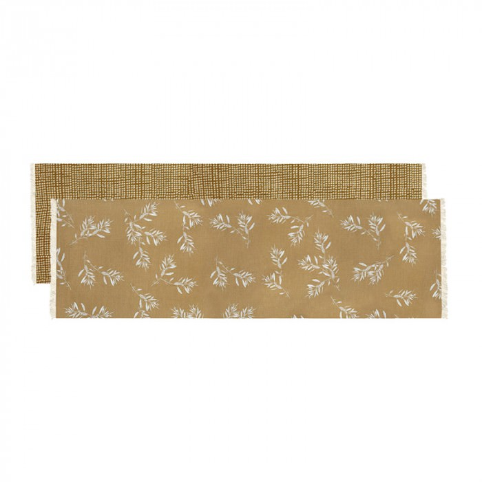 Olive Grove & Cotswold Fabric Table Runner, 150cm, Mustard