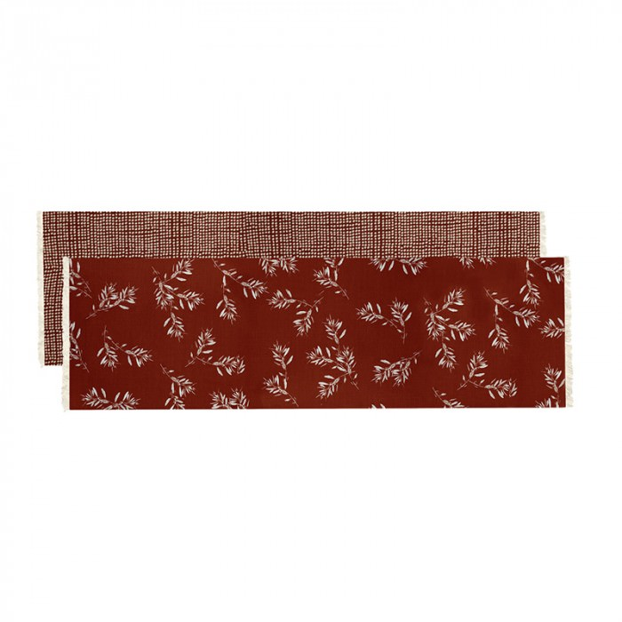 Olive Grove & Cotswold Fabric Table Runner, 150cm, Terracotta