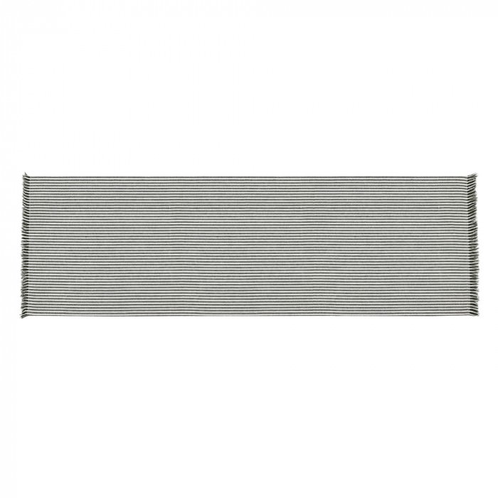 Abby Stripe Fabric Table Runner, Olive