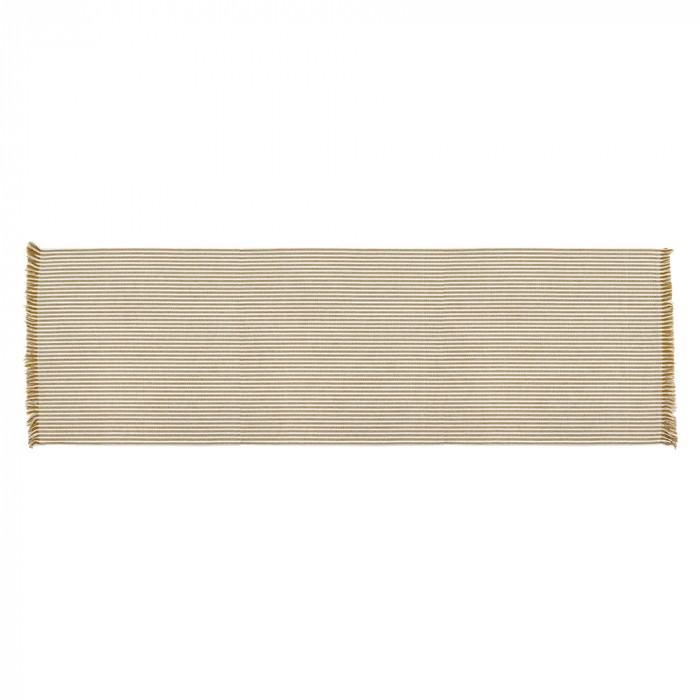 Abby Stripe Fabric Table Runner, Mustard